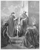Petrus en johannes een lamme man genezen — Stockfoto