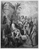 Jesus blesses the little children — Stock Photo