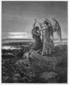 Jacob wrestles with the angel — Stock Photo