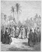 Jacob and Esau meet again — Stock Photo