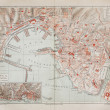 Vintage map of Geneva — Stock Photo