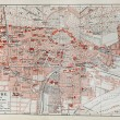 Stock Photo: Vintage map of Karlsruhe at end of 19th century
