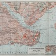 Vintage map of Constantinople (today Istanbul) — Stock Photo