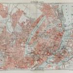 Постер, плакат: Vintage map of Copenhagen at the end of 19th century