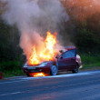 Burning car — Stock Photo