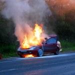 Burning car — Stock Photo #10157635