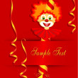Royalty-Free Stock 矢量图片: Children's birthday card, red.