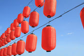 Red paper lantern — Stock Photo