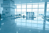 Airport boarding area uni-color — Stock Photo