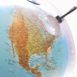 North america on the globe close up — Stock Photo
