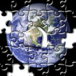 Stock Photo: Puzzle of earth