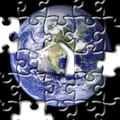 Puzzle of earth — Stock Photo