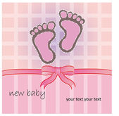 Pink baby foot — Stock Vector