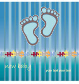 Blue baby foot — Stock Vector