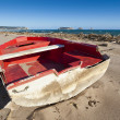 Foto Stock: Red boat