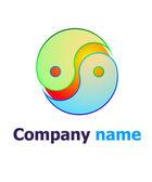 Yin yang logo — Stock Vector