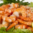 Perfect appetizer of boiled peeled shrimp — Stock Photo
