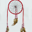 Red indian dream catcher — Stock Photo