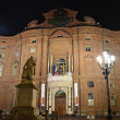 Palazzo Madama in Turin at night - Stock Photo