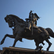 Equestrian statue in San Carlo Square in Turin, Italy — Stock Photo