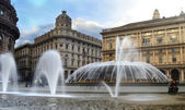 De Ferrari square in Genoa — Stock Photo