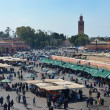 Stockfoto: JemaEl Fnsquare in Marrakech, Morocco