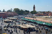 Jemaa El Fna square in Marrakech, Morocco — Stock Photo