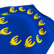 Stock Photo: Flag of Euro-Currency