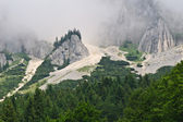 Mountains with fog — Stock Photo