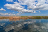 Lake and clouds — Stock Photo