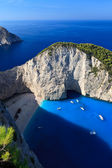 Navagio beach in Zakynthos, Greece — Stock Photo