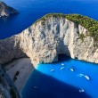 Navagio beach in Zakynthos, Greece — Stock Photo #10409564