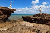 Playa de porto vromi en zakynthos, grecia — Foto de Stock