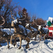 Carriage with reindeer — Stock Photo