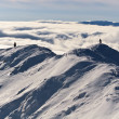 Two climbers on a mountain top in winter — Stock Photo #7976933