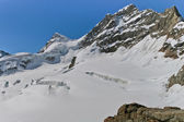 Glacier on the top of Jungfrau — 图库照片