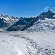 Glacier on the top of Jungfrau — Stock Photo