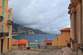 Menton village near italian border — Stock Photo