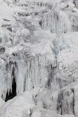 Waterfall in winter — Stock Photo