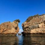 Stones in water in Porto Zoro beach, Zakynthos, Greece — Stock Photo