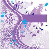 Frame violet — Stock Vector