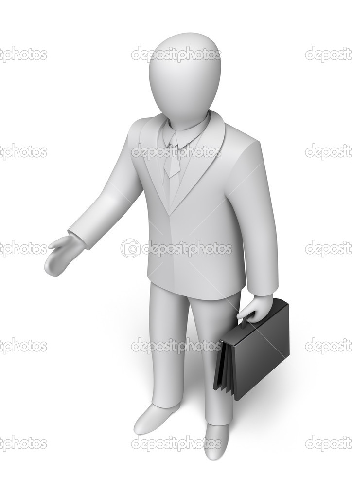 Businessman give hand for handshake  Stock Photo #10111171