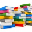 Books stack over white — Stockfoto