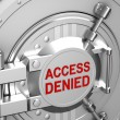 Access denied, safe door of the bank — Stock Photo