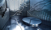 Mercato azionario astratto — Foto Stock