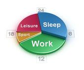 Concept horaire jour de la semaine sur blanc — Photo