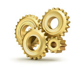 Gear set isolated on white — Stock Photo