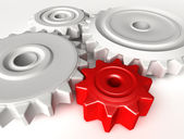 Abstract 3D concept of gear wheels — Stock Photo