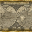 Old Nautical Map Of The World — Stock Photo #8121898