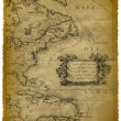 Old Map Of The Caribbean And The Eastern Coast Of USA — Stock Photo #8122080